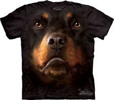 Big Face Rottweiler T-Shirt from the Mountain Company.  Dog Head Tees S-3XL NEW