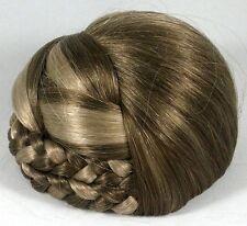 Blonde Braided Bun Based Updo Chignon Pageant Hairpiece