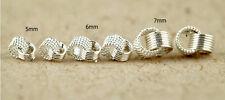 Clásico plata de ley 925 tono nido anillo / pendientes de bola varias opciones