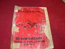 New Holland 77 Baler Original Dealer's Parts Book