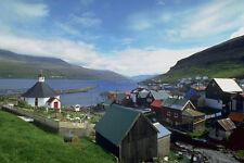 776039 Hvalvik Whale Bay Old Wooden Church From 1824 The Faeroe Islands Denmark