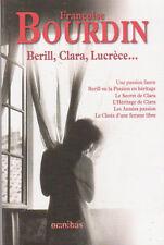 FRANCOISE BOURDIN Berill Clara Lucrèce Omnibus 1472 pages ROMAN