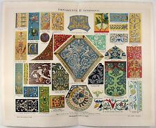 Ornamentation from the Renaissance - Original 1888 Chromolithograph by Meyers