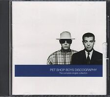 PET SHOP BOYS DISCOGRAPHY , complete singles collection cd Very Good
