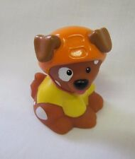 Fisher Price Little People PUPPY DOG Sports Pet in Jersey & Helmet for House