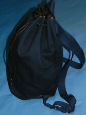 NEW  SUITSUPPLY  NAVY BLUE  CANVAS/LEATHER  BACKPACK  BUCKET BAG