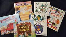 Jewish Religion Children's books, lot of 6 , Tamars Sukkah, Bim and Bom, Sammy