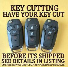 Ford Fusion F 150 F 250 Flip Key Keyless Remote Transmitter Key Cutting Service Fits Ford