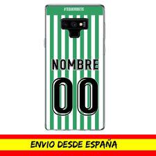Funda Movil Cases Samsung Camiseta Futbol Compatible con Betis Nombre Numero