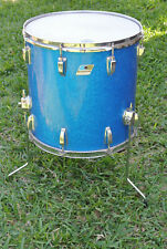 "1970's LUDWIG 16"" CLASSIC SERIES BLUE SPARKLE FLOOR TOM for your DRUM SET! #E908"