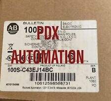 NEW 100S-C43EJ14BC Allen Bradley Safety Contactor Catalog 100S-C43EJ14BC Ser C