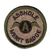 Assole Merit Badge 2.0 x 2.0 IRON ON Patch (MTA1)