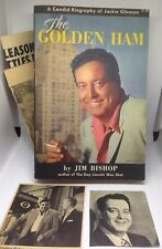 1st Print 1956 The Golden Ham Jackie Gleason Biography Book By Jim Bishop w News