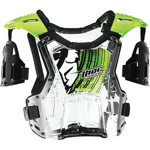 Thor S14Y Quadrant Guard Chest Youth Clear/Green