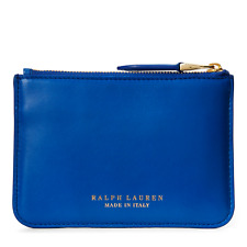 $295 Ralph Lauren Purple Label Collection Nappa Leather Mini Zip Pouch Clutch