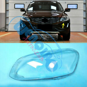 1Pcs Left Side Headlight Clean Cover PC+Glue Fit for Volvo XC60 2014-2017
