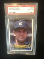 DON MATTINGLY 1984 DONRUSS ROOKIE CARD RC #248 GRADED PSA 8 NM-MT NEAR MINT-MINT