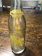 Wapa-Koneta Beverages 8 Oz Bottle Yellow Indian Lima Wapakoneta Ohio