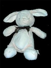 "Toys R Us Naturals Cream Bunny Brown Ribbon Tie Plush 8.5"" Lovey Stuufed Animal"
