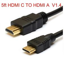 Mini HDMI C TO HDMI A VIDEO Cable For Sony Bloggie MHS-CM5/VHDR-SR5 e Camer