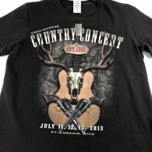 2013 33rd Country Concert Ft Loramie Ohio Adult T Shirt Small Jason Aldean Dierk