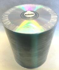 100 CD-R Mediastar Official Shiny Silver Thermal Prism Top 80 Min 48X Blue Dye