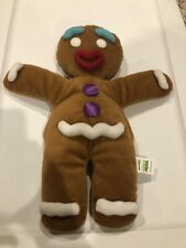 """DREAMWORKS SHREK THE MUSICAL GINGY PUPPET GINGERBREAD MAN 12"""" PLUSH 2013 TOY"""