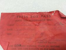 Allman Brothers 1975 Press Box Pass