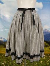 Trachtenrock grau Baumwolle mit lieblich süßem Muster schöne Trachten Rock Gr.42