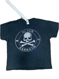 Black Sabbath World Tour 2013 Band  Double sided T-Shirt Size Xlarge