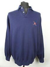 Vintage Polo Ralph Lauren Rugby Sudadera | se ajusta para hombre L | Retro Suéter Superior