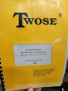 Twose horizontal folding rollers 6.4 7.3 8.2 m operating manual  instructions
