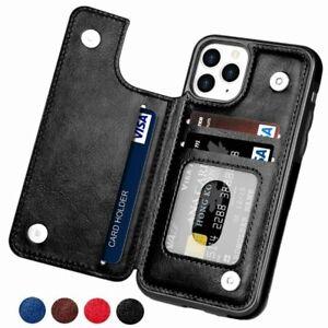 Business Men PU Flip Leather Credit ID Card Card Pocket Holder Wallet Case Cover
