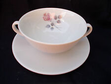 Royal Doulton PILLAR ROSE Soup Cup and Saucer