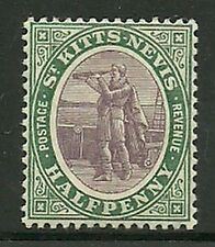 Album Treasures St Kitts & Nevis Scott # 11  1p Columbus Looking for Land MLH
