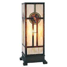 Edele Säulenlampe im Tiffany-Stil 45x18cm Tiffanylampe NEU!
