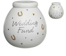 Pot Of Dreams Ceramic Money Box/ Pot WEDDING FUND (401029)  Break To Open