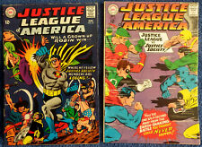 Justice League of America #55 #56 - 1967 JLA JSA team-up! First Grown-up Robin!