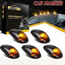 5x Amber LED Cab Roof Marker Lights Smoke Cover For Dodge RAM 2500 3500 99-02