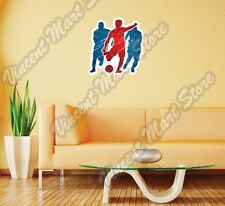 Soccer Football Player Silhouette Gift Wall Sticker Room Interior Decor 22X22""