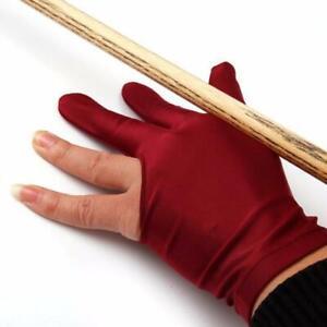 Snooker Pool Billiard Glove Cue Shooter Spandex 3 Finger Glove Left Handed