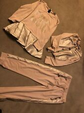Miss Grant Girls Designer 3 piece dusky pink outfit size 38 (age9-10years)
