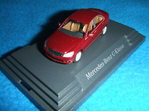 Mercedes Benz W 204 C Class Limousine Carneol Red 1:87 New Boxed Busch
