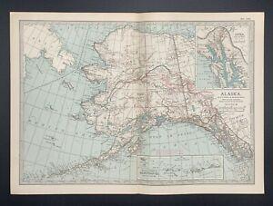 Original  Encyclopaedia Britannica Map of Alaska from 1903