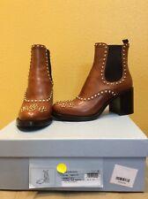 Nwt Prada Ankle Chelsea Brown Boot 36 6