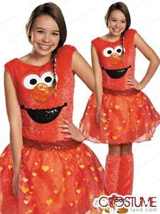 Sesame Street Elmo Girls Tween Costume Fancy Dress Outfit Halloween Party Kids