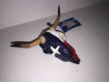 Christmas Holiday Hanging Ornament Texas Western Longhorn Skull Red White Blue