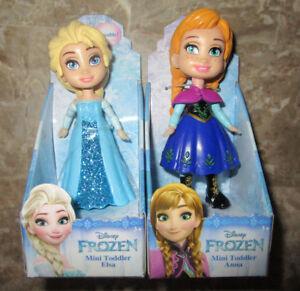 Disney Frozen ELSA ANNA princess Mini Toddler Figurine Stocking Stuffers Set