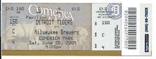 Justin Verlander career win #48 ticket stub; Rangers at Detroit Tigers 5/20/2009
