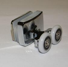 1 x TWIN inferiore ZINCO LEGA Doccia Porta Rullo / corridori 23 mm diametro della ruota LUX2